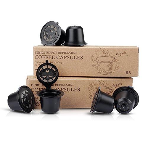 RECAPS Nespresso Cápsula de recargable sin BPA monodosis de