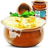 [6 Pack] 10 Oz French Onion Soup Crock - Brown Premium Ceramic Porcelain Bowls, Microwave Oven Safe,...