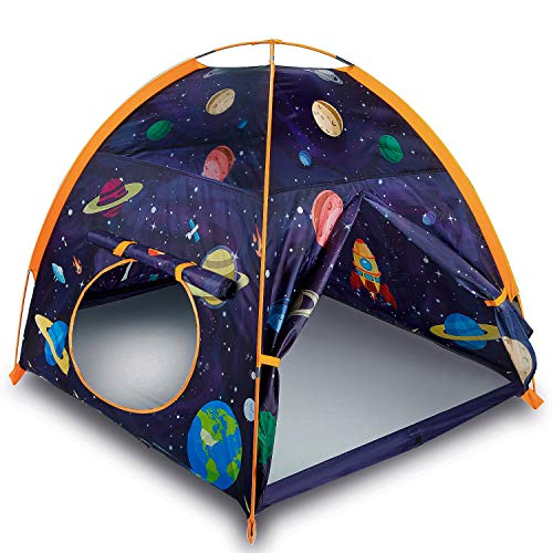 "MountRhino Space World Kids Play Tent Playhouse, 48""x48""x42"" Indoor Outdoor Astronaut Space Toddler Kids Tent ,Galaxy Dome Tent for Boys and Girls Camping Playground ,Perfect Kid's Gift"