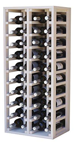 Expovinalia 4[, Kapazität 40Flaschen Weinregal, Holz, Weiß, 105x 44x 32cm