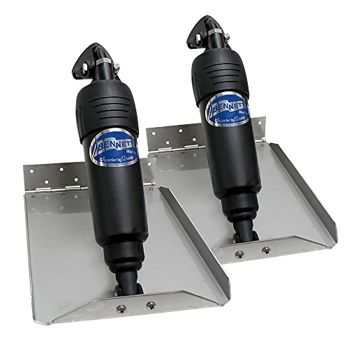 Bennett Marine BOLT912ED Bolt Electric Edge Mount Limited Space Trim Tab Kit - 9 x 12