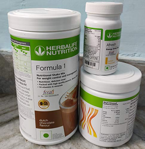 Herbalife Weight Loss Package for mula1(Chocolate)+Personalized Protein Powder(PPP)+Afresh - Lemon