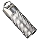 Titanium Pill Holder, VICSOME Pill Box Keychain Waterproof Pill Case Mini Portable Lightweight Necklace Pill Container Emergency Pill Purse Pill Fob for Outdoor, Travel, Camping