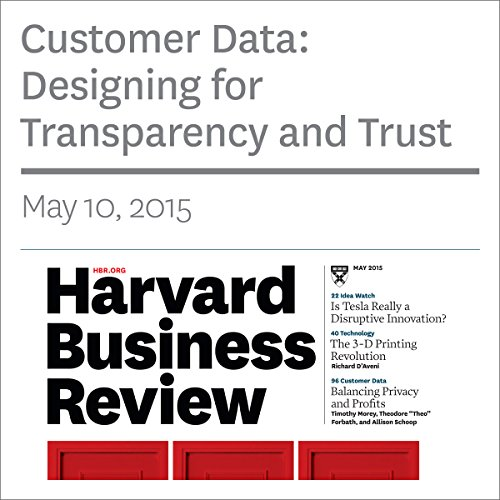 Customer Data: Designing for Transparency and Trust cover art