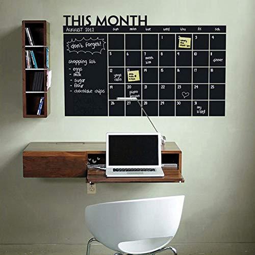 TYLOLMZ Dieser monat diy monatliche tafel kalender planer memo abnehmbare vinyl wandtattoo aufkleber tapete 60 * 92 cm 2015 wohnkultur