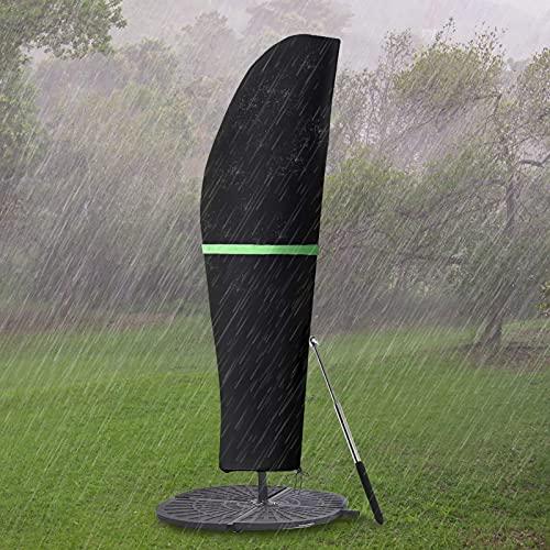 GEMITTO Funda Protectora para Sombrilla (Diámetro 2-4 m),Funda Impermeable para Sombrilla de Jardín, Funda Impermeable para Sombrilla con Cremallera,Protección para Sombrilla de Jardín Exterior
