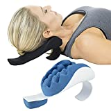 Vive Neck Support Pillow - Chiropractic Shoulder Relaxer and Stretcher - Cervical Spine Traction Device, Neckbone Muscle Tension Reliever - Pressure Relief, Stiff Chronic Pain, Disc Alignment