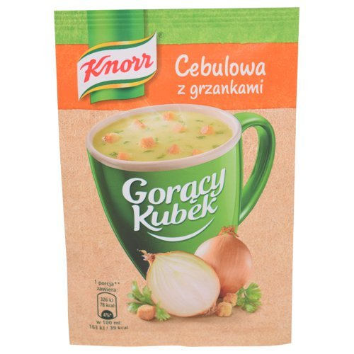 Knorr Heiße Tasse goracy Kubek Zwiebel Suppe mit Croutons 17g