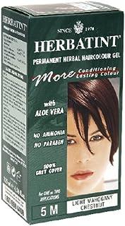 Herbatint Permanent Herbal Haircolour Gel, Light Mahogany Chestnut 5 M, 4.56-Ounces (Pack of 2)