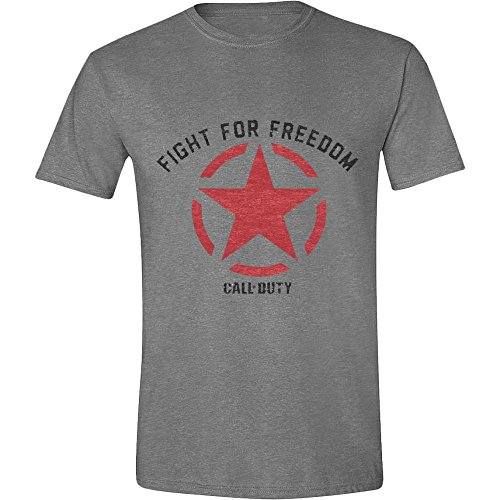 Call Of Duty: Wwii: Fight For Freedom Grey Melange (T-Shirt Unisex Tg. M)