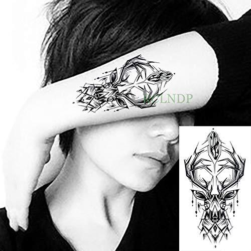 tzxdbh 3Pcs-Etiqueta engomada del Tatuaje Impermeable Cabeza de ...