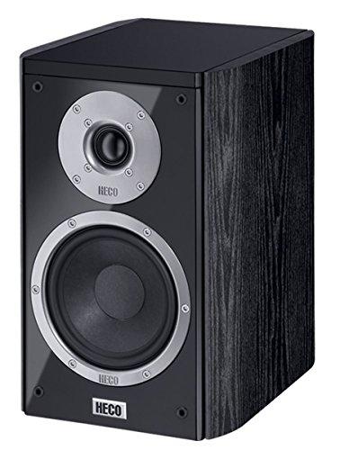 'Heco Music Style 20080W schwarz Lautsprecher–Lautsprecher (Universal, XLR, Oberseite Tisch-/Bücherregal, 2,54cm (1Zoll), 12,7cm (5), 3cm)