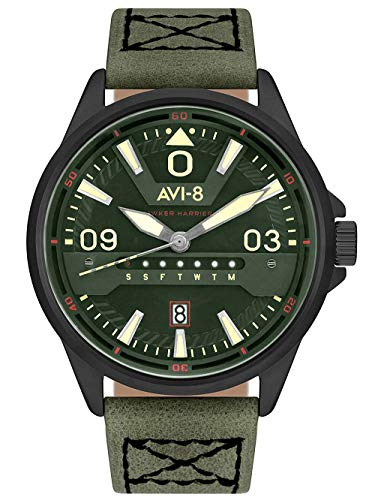 Hawker harrier orologio Uomo Analogico Al quarzo con cinturino in Pelle di vitello AV-4063-04