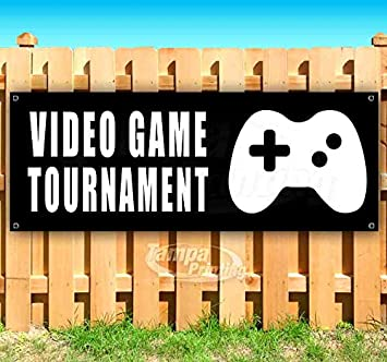 Video Game Tournament 13 oz Banner Heavy-Duty Vinyl Single-Sided with Metal Grommets