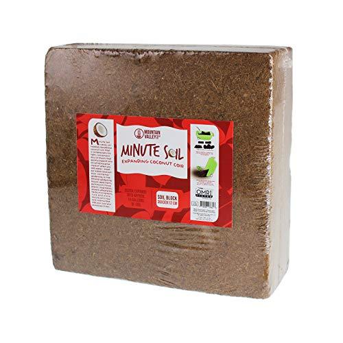 Minute Soil - Compressed Coco Coir Fiber Grow Medium - 1...