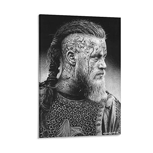 EWYU Ragnar Poster Cuadro decorativo Lienzo Arte Pared Sala Poster Dormitorio Pinturas 60x90 cm