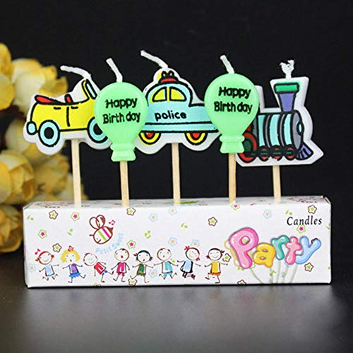 Festivales Segura Llamas Kid Partido Regalo de los niños de Dibujos Animados Craft Velas de la Torta de cumpleaños de la Vela Decoración,Balloon Car