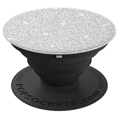 Cool Silver-Glitter PopSockets Grip and Stand for Phones and Tablets