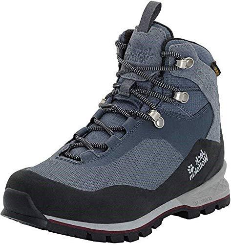 Jack Wolfskin Wilderness Lite Texapore Mid W, Chaussures de Randonnée Hautes Femme, Gris (Pebble Grey/Burgundy 6511), 39.5 EU
