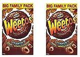 Weetabix Weeto's Crunchy Fun, anillos crujientes de grano entero con sabor a chocolate, 2x 500g