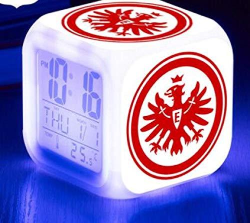 FPRW digitale led-wekker, nachtlampje, 7 kleuren, flash, led-klok voor voetbal, decoratie voor kantoor thuis, type 6