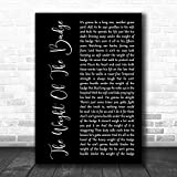#George Strait The Weight of The Badge Black Script Song Lyric Music Art Print Wall Art Print Painting Home Decor Gifts for Lovers Poster [No Framed]