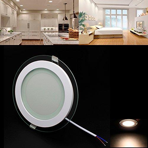 Preisvergleich Produktbild BAODE LED Panel,  Dimmbar 12W Warmweiß(3000K) 96~960lm,  ersetzt 100W Glühbirne,  Ø160mmx41mm,  Lochgröße:120cm,  Glas Leuchte Deckenlampe Deckenleuchte Einbaustrahler