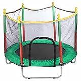 EANSSN Redondo Interior Trampolín con protección Net Red Bed Salto Trampolines Al Aire Libre Ejercicio Cama Fitness Equipos para Adultos