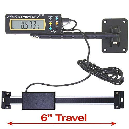 "iGaging Digital Readout DRO 6"" Travel X-Large LCD Display EZ-VIEW PLUS"