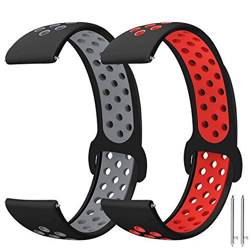 Younsea Correas Huawei Watch GT 46mm/Galaxy Watch 3 45mm, 22mm Silicona Correa para/Gear S3 Frontier/Galaxy Watch 46mm/Gear S3 Classic/Vivoactive 4/TicWatch Pro/S2/E2