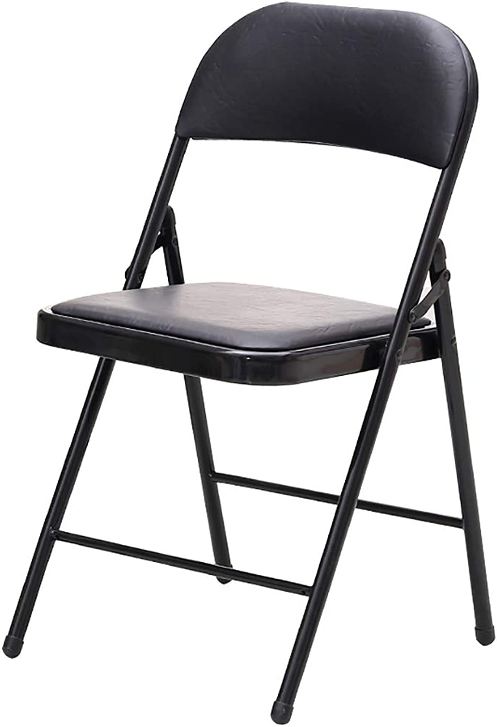 XHLZDY Folding Chair, Computer Chair Office Meeting Chair Home Leisure Chair Meeting Reception Chair (45×46×79cm) (color   Black)