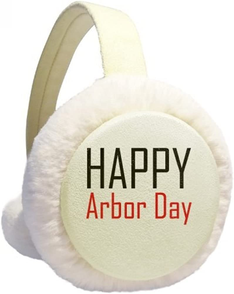 Celebrate Arbor Day Blessing Festival Winter Ear Warmer Cable Knit Furry Fleece Earmuff Outdoor