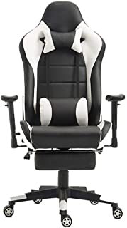 DFBGL E-Sports Chair Silla para computadora Silla de Oficina Reposacabezas y Soporte Lumbar La Silla de Escritorio de Oficina para el área de Oficina es un Campo de Juego para Trabajar (