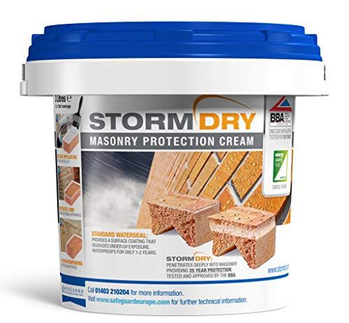 Stormdry muratura della crema 3L–l' unico prodotto certificato BBA mattoni impermeabilizzazione–25anni protezione contro umidità penetrante.