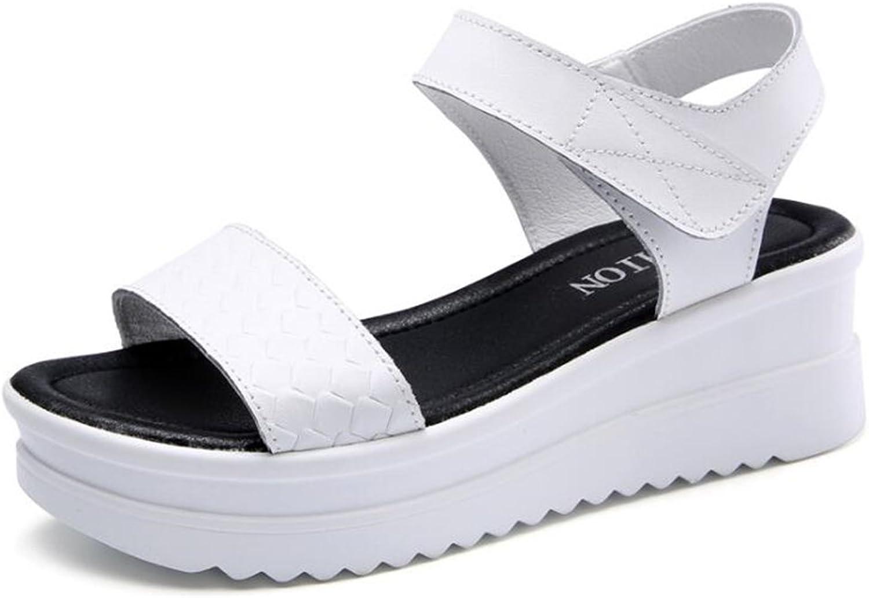 ALLAK Women's Comfort Wedge Sandal Platform shoes - Open Toe