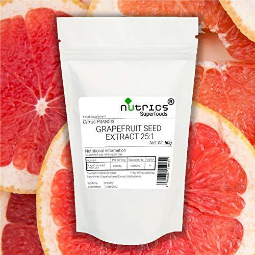 Nutrics Semilla de pomelo 25:1 Extracto 50g Polvo Citrus Paradisi