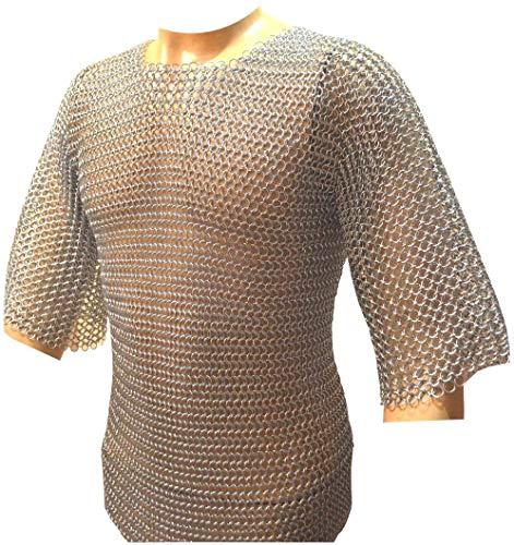 Camisa de COTA de Malla de Aluminio a Tope COTA de Malla de Aluminio Haubergeon Medieval Medium de M.J Enterprises