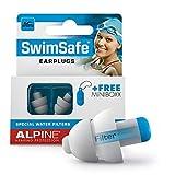 Alpine SwimSafe Tappi Auricolari - Tappi Auricolari Impermeabili per Il Nuoto - Tiene Fuori l'acqua e previene Le infezioni - Comodo Materiale ipoallergenico - Tappi per Le Orecchie riutilizzabili