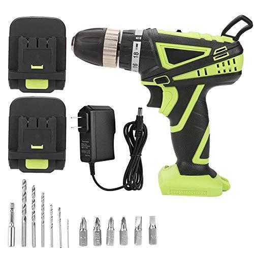 ZJchao Destornillador eléctrico sin Taladro Destornillador, Mango ergonómico Profesional Empuñadura de Litio LED incorporada Magnética/Conductor Magnético Biela y Estuche portátil(Enchufe de EE.UU.)