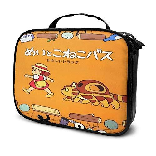 Bolsa de maquillaje portátil de Franxx, bolsa de cosméticos de viaje para hombre y mujer, grande, bolsa de almacenamiento ajustable, maquillaje de partición B