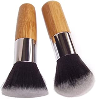 Zinniaya Profesional Soft Flat Top Buffer Foundation Powder Brush Cosmetic Salon Brush Makeup Basic Brush Herramienta de maquillaje facial