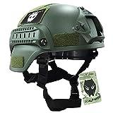 ATAIRSOFT MICH 2000 Stil Softair Taktisch Kampf Armee Militär Airsoft Paintball Helm mit Seitenschiene und NVG Montieren OD Grün