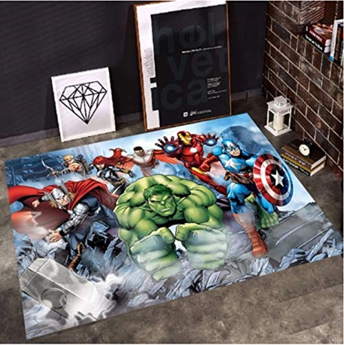 weiyibaobei Tapis De Bande Dessinée De Ménage Anime Marvel Avengers Tapis Salon Chambre Chevet Chambre d