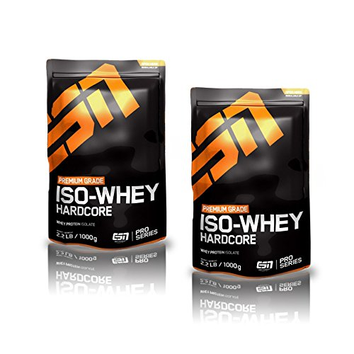 ESN Iso-Whey Hardcore 2000g, 2er Pack (2 x 1000g) - Geschmack: Strawberry
