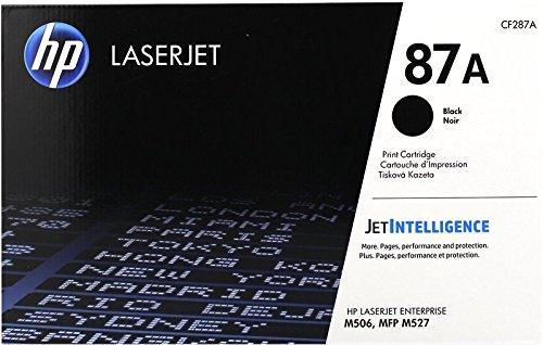 HP 87A CF287A, Cartuccia Toner Originale, da 8.550 Pagine, Compatibile con le Stampanti HP Laserjet Enterprise Serie M500 e M520, JetIntelligence, Nero