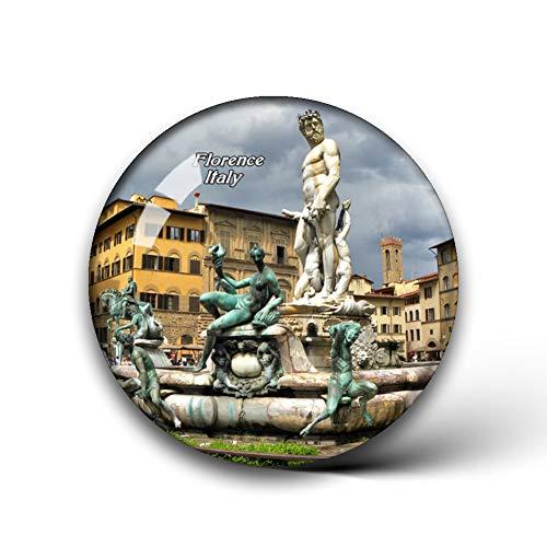 Jollin Italien Piazza Della Signoria Brunnen Florenz Kühlschrankmagnete Kristallglas für Kühlschrank Aufkleber City Travel Souvenirs Whiteboard Home Deco Geschenke