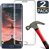 [2 Pack] Samsung S6 Edge Plus Screen Protector Tempered Glass [9H Hardness][3D Full Coverage][Anti-Scratch] Tempered Glass Screen Protector for Samsung Galaxy S6 Edge Plus