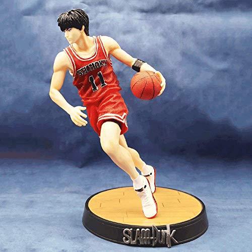 NAMFZX Slam Dunk Jugador de Baloncesto de Sangre Caliente Kaede Rukawa11# Postura para Correr Modelo de Personaje de Anime en Caja 27cm (10.63in) PVC Decorativo