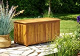 Deuba Garden Storage Box with Lid 120cm Cushion Outdoor Patio Furniture Container Trunk