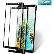 Samsung Galaxy Note 8 Panzerglas Schutzfolie [2 Stück] 9H Härtegrad 3D Vollständige Abdeckung Hartglas Displayschutzfolie für Samsung Galaxy Note 8, HD Ultra Klar Kratzfest Blasenfrei (Schwarz)